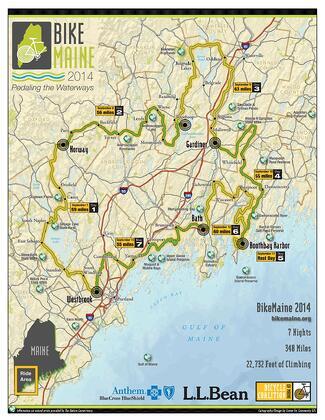 BikeMaine Route Map Destination Travel Tourism Wedding