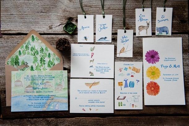 Rustic Custom Wedding Invitations