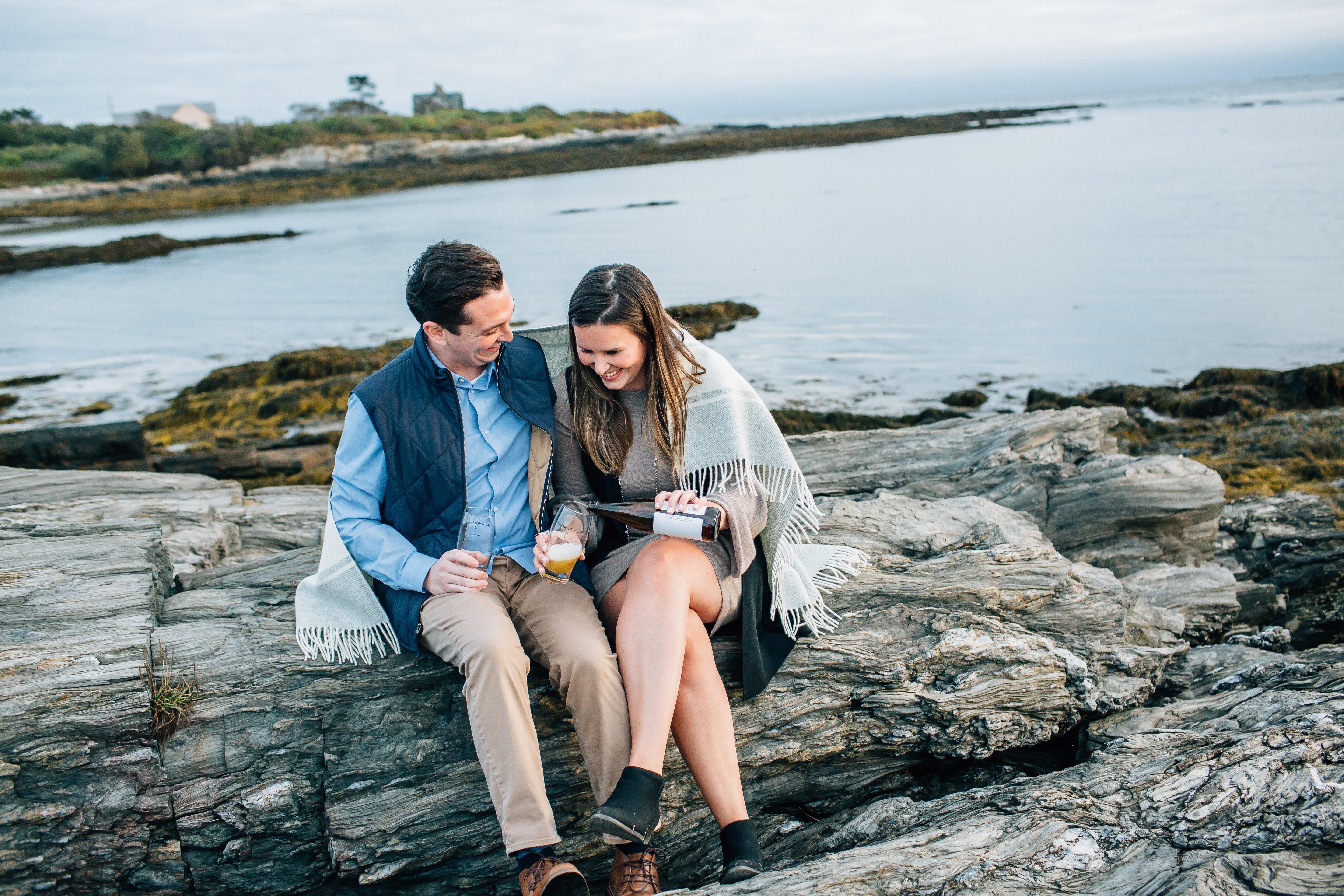 maine granite ridge wedding couple
