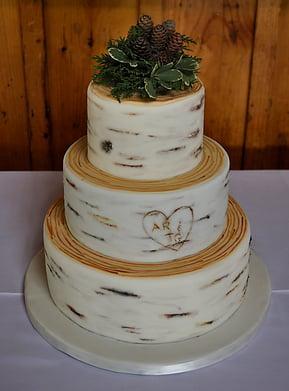 Maine Rustic Wedding Cake