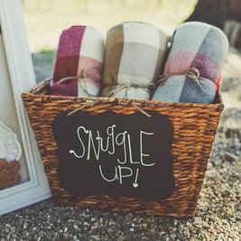 maine wedding, barn, new england, wedding favors, guest friendly, rustic wedding, blanket,