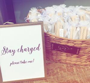 maine wedding, barn, new england, wedding favors, guest friendly, rustic wedding, portable charger,